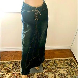 Parasuco Jeans Denim Size 2 Full Length Skirt
